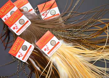 Angelsport-Köder, -Futtermittel & -Fliegen Fly Tying Whiting Bronze Rooster Saddle Grizzly dyed Coachman Brown #A